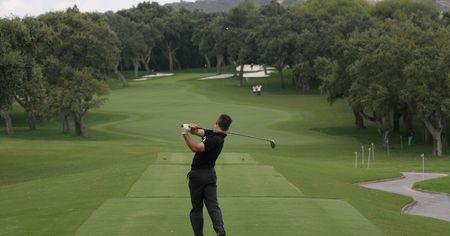 vilamoura: golf swing in valderrama Stock Photo
