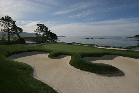 pebble beach golf course, caligornia Stock Photo