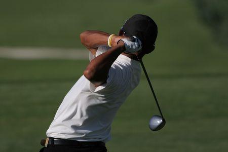 vilamoura: golf swing in valderrama, spain Stock Photo