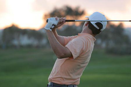 vilamoura: golf swing in vilamoura, portugal