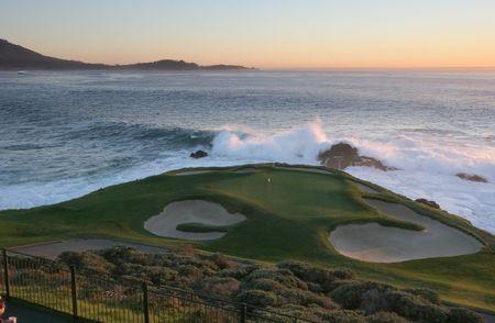 ペブル ビーチ ゴルフ、ホール 7 は、カリフォルニア州
