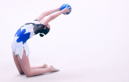 women artistic gymnastics Stock Photo