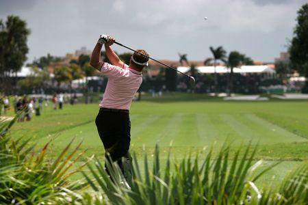 miami florida: golf swing in doral, miami
