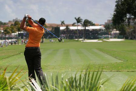 ドラル マイアミでゴルフのスイング 写真素材