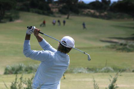 ゴルフ スイング私オイタボス、ポルトガル 写真素材