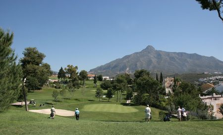 aloha golf course, Marbella, Spain Stock Photo
