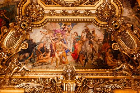 palais: PARIS, OCTOBER 02 , An interior view of Opera de Paris, Palais Garnier, It was built from 1861 to 1875 for the Paris Opera house an is shown on OCTOBER 02, 2010 in Paris.