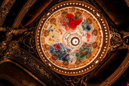 palais garnier: PARIS, OCTOBER 02 , An interior view of Opera de Paris, Palais Garnier, It was built from 1861 to 1875 for the Paris Opera house an is shown on OCTOBER 02, 2010 in Paris.