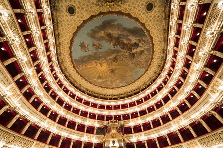 carlo: Interiors and details of Teatro di San Carlo, Naples opera house, Italy Editorial