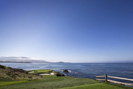 monterey: A view of Pebble Beach golf  course, Monterey, California, USA