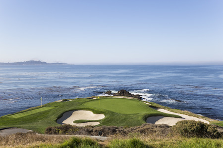 golf of california: A view of Pebble Beach golf  course, Monterey, California, USA