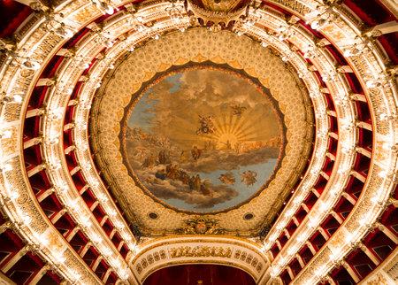 naples: Teatro San Carlo, Naples opera house, Italy Editorial