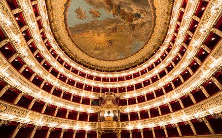 Teatro San Carlo, Naples opera house, Italy Editorial