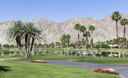 quinta: PGA West golf course in La Quinta, Palm Springs, California, USA