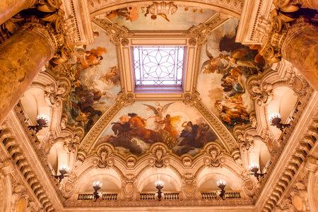 palais: PARIS  DECEMBER 22 , An interior view of Opera de Paris, Palais Garnier, is shown on DECEMBER 22, 2012 in Paris. It was built from 1861 to 1875 for the Paris Opera house. Editorial
