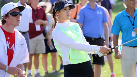 a mirage: Rancho Mirage California april February 2015 michelle wie of united states in the first round of tournament lpga ana inspiration tour in Mission Hills Country Club rancho mirage california united states