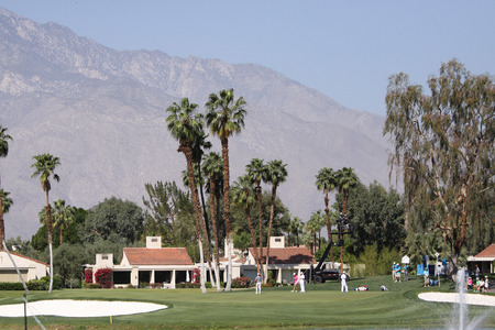 a mirage: Golf course view at the ANA inspiration tournament Editorial