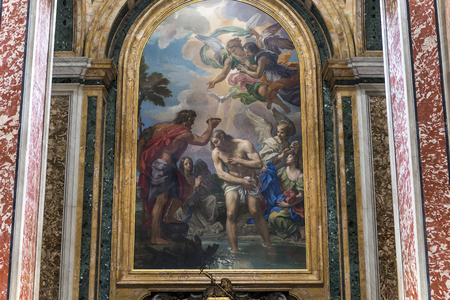 saint peter: VATICAN CITY, VATICAN   JUNE 15, 2015 : interiors and architectural details of Basilica of saint Peter, june 15, 2015, in Vatican city, Vatican