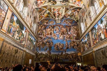 インテリアと建築についてバチカン市国、バチカン市国のシスティーナ礼拝堂、2015 年 6 月 15 日、バチカン市国、バチカン市国、2015 年 6 月 15 日: