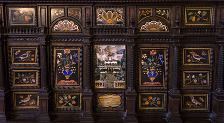 architectural interiors: FLORENCE, ITALY, OCTOBER 25, 2015 : interiors and architectural details of Palazzo Vecchio, october 25, 2015 in Florence, Italy Editorial