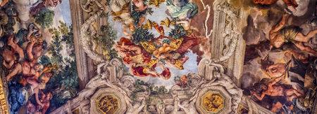 pierre: ROME, ITALY, JUNE 13, 2015 : Ceiling Fresco by Pierre de Cortone, Palazzo Barberini, june 13, 2015, in Rome, Italy