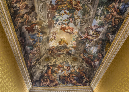 fresco: ROME, ITALY, JUNE 13, 2015 : Ceiling Fresco by Pierre de Cortone, Palazzo Barberini, june 13, 2015, in Rome, Italy
