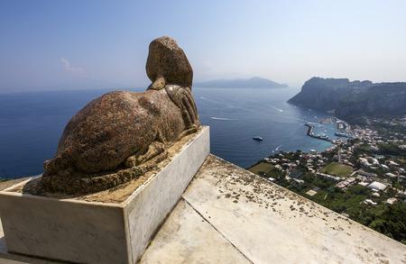 capri: panorama from Sphinx statue over Capri island, Capri, Italy