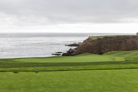golfcourse: A view of Pebble Beach golf  course, Monterey, California, USA