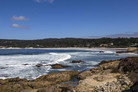pebble beach: A view of Pebble Beach golf  course, Monterey, California, USA