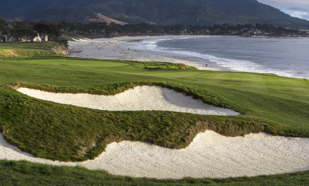linkage: A view of Pebble Beach golf  course, Monterey, California, USA