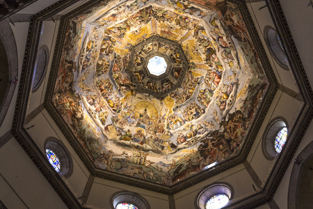 FLORENCE, ITALY, OCTOBER 24, 2015 : interiors and architectural details of cathedral Santa Maria del fiore, october 24, 2015 in Florence, Italy