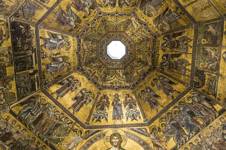 architectural interiors: FLORENCE, ITALY, OCTOBER 24, 2015 : interiors and architectural details of Baptistery of saint John, october 24, 2015 in Florence, Italy