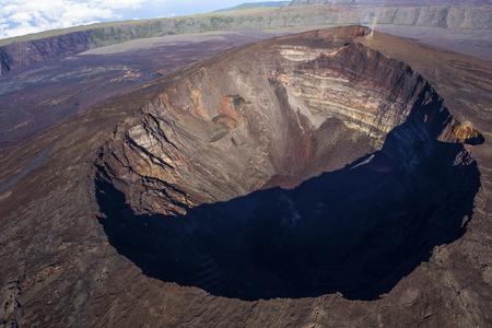 インド洋、フランス、レユニオン島ピトン ・ デ ・ ラ ・ フルネーズ火山 写真素材