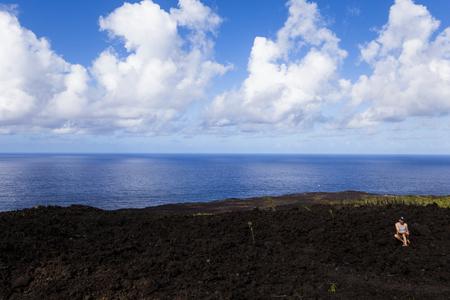 pas: Piton de la Fournaise volcano, Reunion island, indian ocean, France