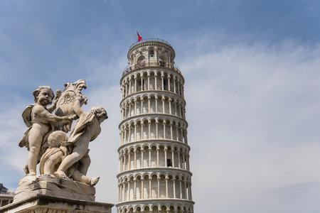 pisa: PISA, ITALY, june 08, 2016 : Architectural details of the Tower of Pisa, on june 08, 2016 in Pisa, italy