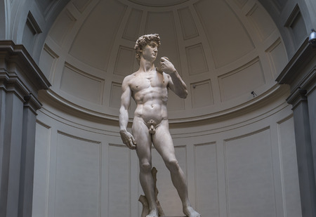 FLORENCE, ITALY, OCTOBER 24, 2015 : Michelangelo David statue in Accademia, october 24, 2015 in Florence, Italy