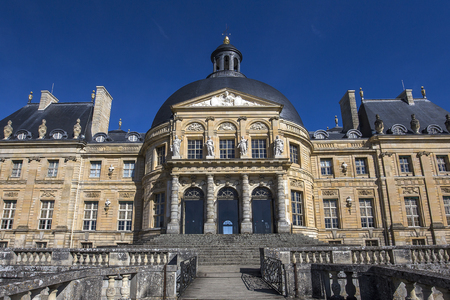 vaux: MAINCY, FRANCE, MARCH 30, 2017 : exteriors and architectural details of Vaux le vicomte castle, march 30, 2017, in Maincy, France