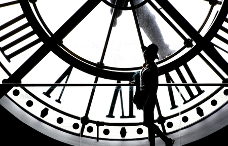 PARIS, FRANCE, MARCH 31, 2017 : clockwork details of the Orsay museum, march 31, 2017, in Paris, France