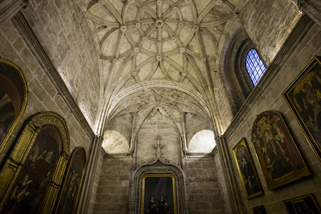 SEVILLE, ANDALUSIA, SPAIN, MAY, 23, 2017 : interiors and details of Seville cathedral, may 23, 2017, in Seville, andalusia, spain Editorial