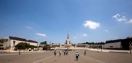 FATIMA, PORTUGAL, JUNE, 21, 2017 : on the esplanade  of  sanctuary of our lady of Fatima, june 21, 2017, in Fatima, Portugal