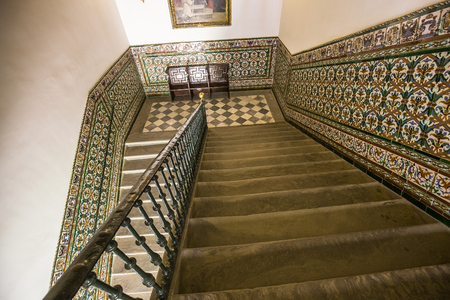 SEVILLE, ANDALUSIA, SPAIN, MAY, 25, 2017 : interiors  of  hospital de los venerables church, may 25, 2017, in Seville, andalusia, spain