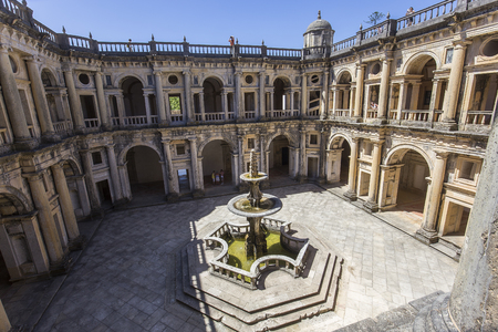 TOMAR, PORTUGAL, JUIN 23, 2017: détails architecturaux du couvent du Christ, 23 juin 2017, à Tomar, Portugal