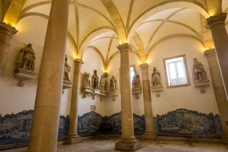ALCOBACA, PORTUGAL, JUNE, 18, 2017 : interiors and architectural details of  Alcobaca monastery, june 18, 2017, in alcobaca, Portugal