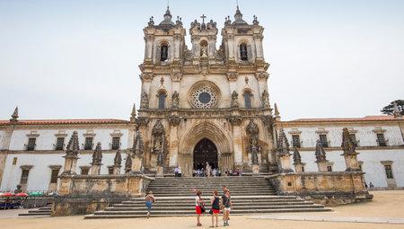 baroque: ALCOBACA, PORTUGAL, JUNE, 18, 2017 : exteriors  and architectural details of  Alcobaca monastery, june 18, 2017, in alcobaca, Portugal Editorial