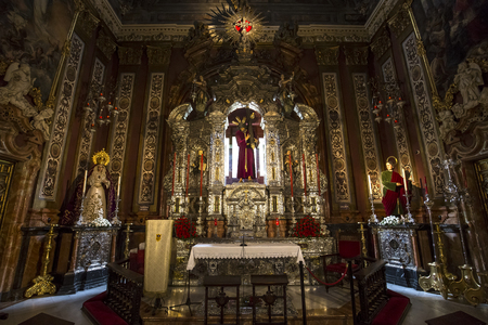 baroque: SEVILLE, ANDALUSIA, SPAIN, MAY, 21, 2017 : interiors  of  El Salvador church, may 21, 2017, in Seville, andalusia, spain Editorial