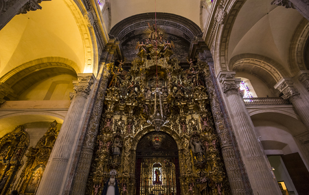 SEVILLE, ANDALUSIA, SPAIN, MAY, 21, 2017 : interiors  of  El Salvador church, may 21, 2017, in Seville, andalusia, spain Editorial