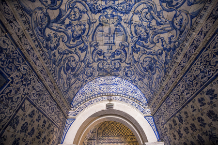 senhora: NAZARE, PORTUGAL, JUNE, 20, 2017 :  architectural details of  Church of Nossa Senhora da Nazare, june 20, 2017, in Nazare, Portugal