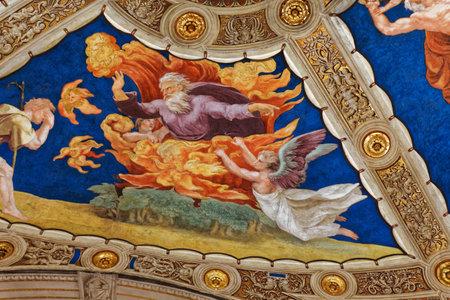 VATICAN CITY, VATICAN, JUNE 15, 2015 : interiors and architectural details of Raphael rooms in Vatican museum, june 15, 2015, in Vatican city, Vatican