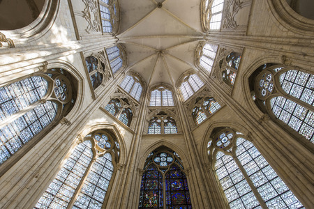 SAINT SULPICE DE FAVIERES, FRANCE, AUGUST 28, 2016 : Interiors And Details  Of
