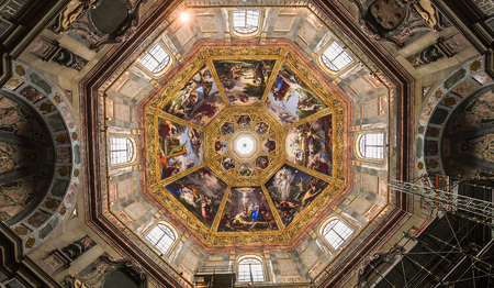 FLORENCE, ITALY, OCTOBER 27, 2015 : interiors and architectural details of Medici chapel, october 27, 2015 in Florence, Italy
